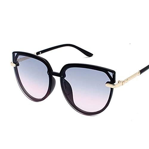 AMFG Gafas de sol Square Big Frame Gafas de sol Transparente Océano Película Unisex Glasses Hombres y mujeres Sombrilla de sombrilla Viajes al aire libre (Color : C)