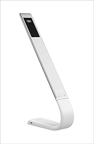 DreamLED 5414633063823EAN - Lámpara de noche curva con luz regulable en seis pasos, silicona, color blanco