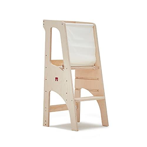 Bianconiglio Kids EVO 2020 Torre de Aprendizaje, Multicapa de Abedul de la Mejor Calidad, Sin Pintura ni Productos químicos añadidos, Standard
