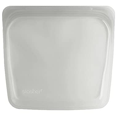 Stasher Reusable Silicone Food Bag, Sandwich Bag, Sous vide Bag, Storage Bag, Clear