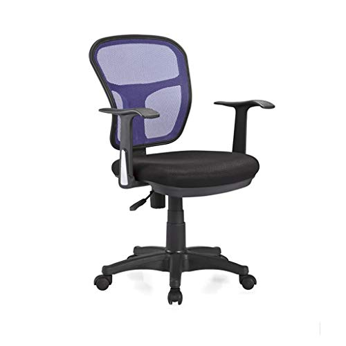 Chair Office Chair Desk Chair Black Ergonomic Swivel Mesh Task Chair High Back Padded Desk Chair,Office Swivel Desk Chair with Torsion Control,3 Colors (Color : Blue)