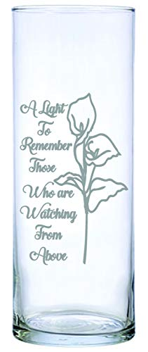 """IE Laserware Lily permanently laser engraved, etched on this beautiful Floating Memorial Candle, comes complete with 3"""" white candle"""
