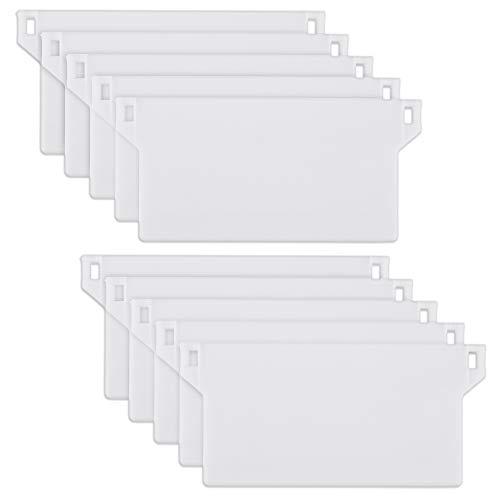30 Stück 89 mm (3,5 Zoll) Vertikale Blind Weiß Bottom Weights Lamellen
