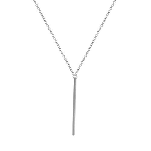 Collar europeo y americano simple collar de lazo de palo largo cadena hecha a mano popular femenina