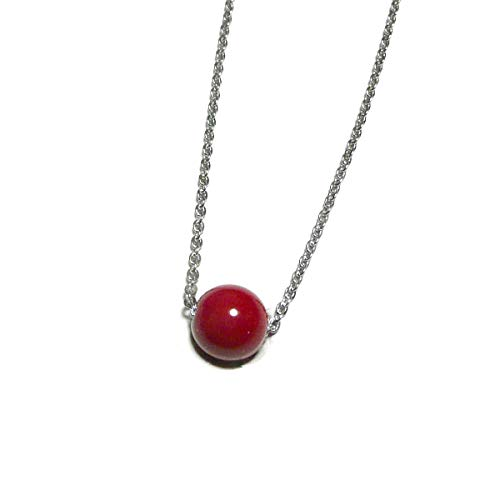 【 1st / ファースト 】 赤珊瑚 ひとつぶ チョーカー ネックレス