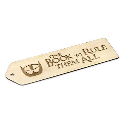 Segnalibro in legno ispirato al Signore degli Anelli, idea regalo con incisione (un libro per governare tutti)