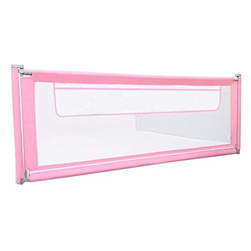 ZHAOHUI-barrière de lit Clôture De Lit pour Enfants Lit De Bébé Anti-Out Splicable Ascenseur Vertical Grande Poche Réglable en Hauteur Facile À Installer, 4 Tailles (Color : Pink, Size : 150cm)