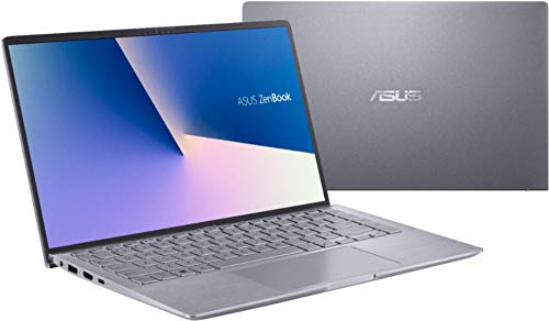 ASUS ZenBook 14' IPS FHD Laptop, AMD Ryzen 4500U 6-Core up to 4.0 GHz, NVIDIA GeForce MX350 Graphics, 8GB RAM, 256GB SSD, Backlit KB, USB-C, Win 10 QWERTY US Version