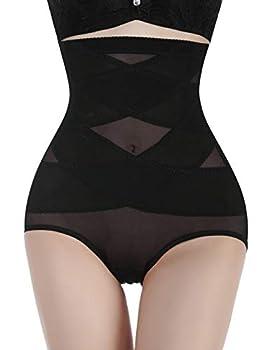 Nebility Women Butt Lifter Shapewear Hi-Waist Double Tummy Control Panty Waist Trainer Body Shaper  XL Black