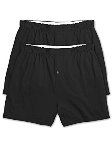 Harbor Bay by DXL Big and Tall 3-Pack Solid Knit Boxers, Black, 2XL