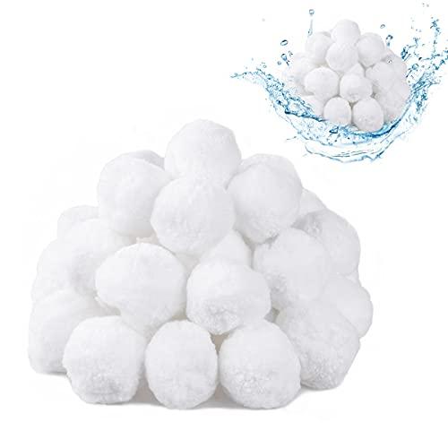SanGlory 700g Filtro Balls, Palline Filtranti per Piscina, Sfera Filtrante in Polietilene Sostituisce Sabbia Filtrante, Usate per Filtro a Sabbia per Piscina, Pompe Filtranti (700g)