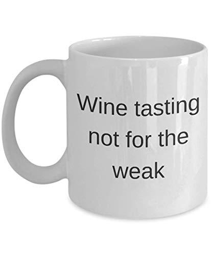 Divertida taza de café de vino de 325 ml – Degustación de vino no para los débiles – Regalo único inspirador de sarcasmo humor regalo para adultos amigos hombres y mujeres