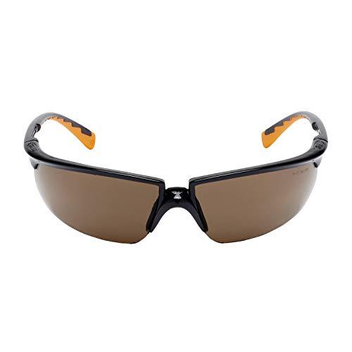 3M Solus Schutzbrille SOLBC1, bronze – Arbeitsschutzbrille für leichte Reparaturarbeiten – Anti-Kratz- & Anti-Beschlag-Beschichtung