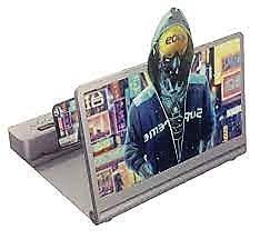 Andowl Lente de aumento de la pantalla del teléfono móvil amplía la pantalla del teléfono más de 1,5 veces conexión Bluetooth (Silver)
