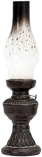 Sooiy Öllampe Altes Glas Petroleumlampe Benzin Wieder nach Hause Laterne Tischlampe Kerzenständer Kerzenhalter mit Kerze