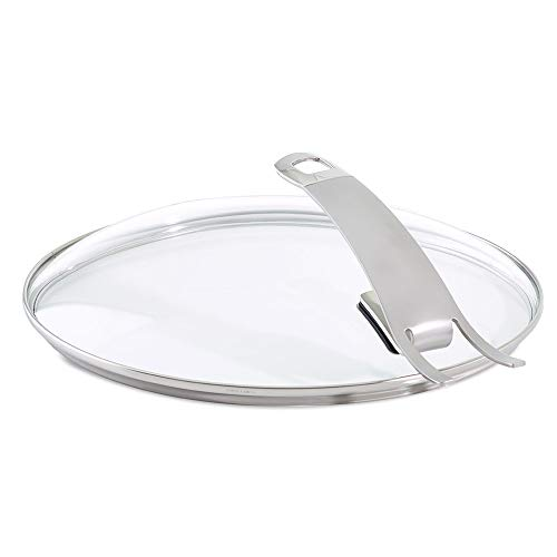 Fissler Pfannenzubehör Güteglasdeckel premium – Pfannen Glasdeckel hoch – Deckel Edelstahl-Rand – 28 cm Ø Bratpfanne – 185-000-28-200/0