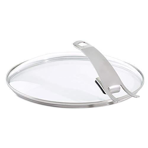 Fissler Pfannenzubehör Güteglasdeckel premium – Pfannen Glasdeckel hoch – Deckel Edelstahl-Rand – 26 cm Ø Bratpfanne – 185-000-26-200/0