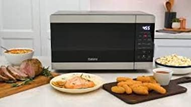 Galanz 0.9 Cu. Ft Air Fry Microwave Stainless Steel