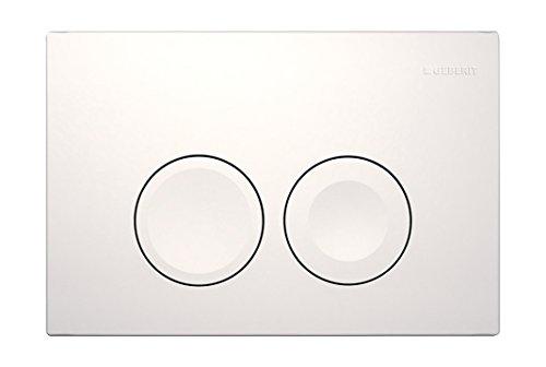 Geberit 115125111 Delta 21 Betätigungsplatte 115.125.111, Revisionplatte weiß, 245 x 165 x 14 mm