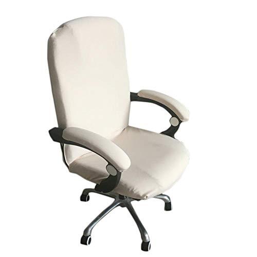 Lembeauty - Funda para silla de oficina de color sólido de licra, elástica, giratoria, para ordenador, oficina, oficina, escritorio, cubierta, funda protectora