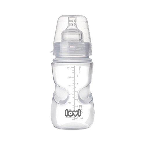 LOVI Babyflasche Medical+ mit dynamischem Silikon-Trinksauger | 250 ml | BPA frei | Beeinflusst den Saugreflex nicht | Anti-Kolik-System | SUPER Vent-Entlüftungssystem