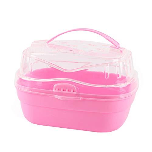 geneic Transportbox für Hamster, Kunststoff, tragbar, für kleine Haustiere, Urlaube für Goldene Seide, Bär, Meerschweinchen, Igel, Drache, Katze