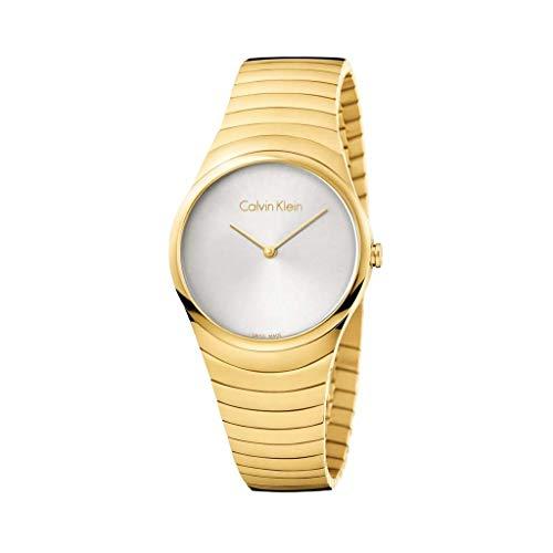 Calvin Klein Reloj Analogico para Mujer de Cuarzo con Correa en Bañada en Oro K8A23546