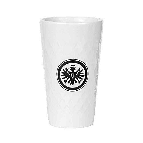 Eintracht Frankfurt Apfelwein Keramik Becher - Geripptes - 2er Set weiß 0,33 l SGE - Plus Lesezeichen I Love Frankfurt