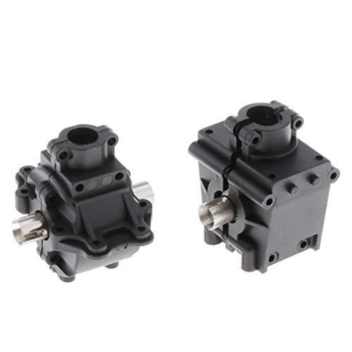 1/14 Cars 2X Engranajes diferenciales + 2X Juego de piezas de cubierta de caja para WLToys