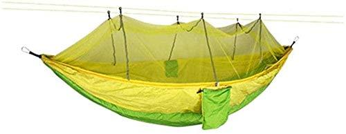 YSCYLY Travel Camping Hamac,260 * 140CM avec moustiquaire,Hamac de Camping Léger Nylon Parachute Hamac