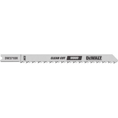 DEWALT DW3710-5 4-Inch 10 TPI Fine Finish Wood Cut Cobalt Steel U-Shank Jig Saw Blade (5-Pack)
