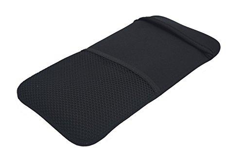 (Ambertech) 持ち運び便利な Bluetooth 12インチワイヤレスキーボードケース(ブラック)