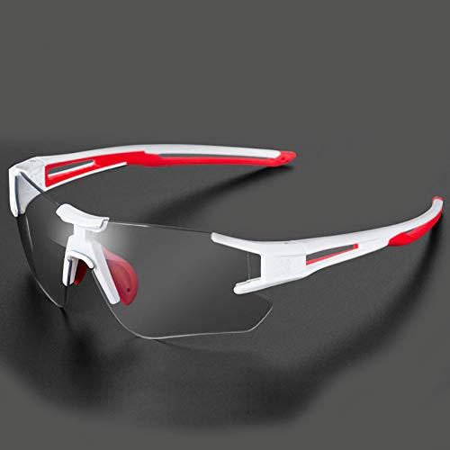 YAHE Occhiali Bici,Occhiali Ciclismo Uomo,Occhiali da Ciclismo scolorimento Uomini e Donne in Esecuzione Mountain Bike Antivento miopia Sport Occhiali da Sole polarizzati per attività all'aperto