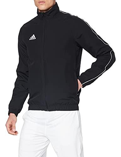 adidas Herren CORE18 PRE JKT Sport Jacket, Black/White, XL