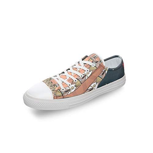 Lind88 Hot Air Balloon Unisex Mid School Students Zapatos de Lona – Zapatillas de Verano de Dibujos Animados con Puntera Redonda, Transpirables, Color Blanco, Talla 39 EU