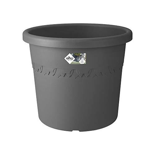 elho algarve Cilindro Rollen 48 Blumentopf – Rundes Pflanzengefäß in Anthrazit – Ideale Dekoration für den Außenbereich – Ø 48 x H 40.2 cm