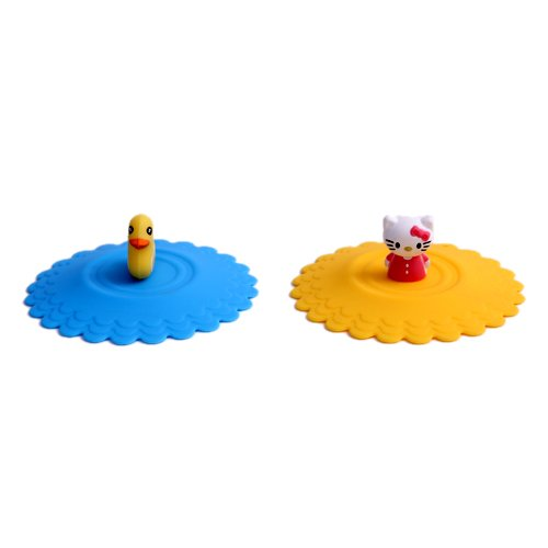 Snyter Silicon Vacumm Glass Lids - Cups/Glass Sealer Lid - Set of...