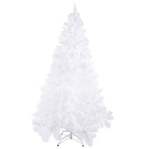 Mbuynow - Albero di Natale ,1000 Rami ,con supporto in metallo, per interni ed esterni, Facile da Montare,Decorazione Tradizionale per la Casa, Bianco(2.1m)