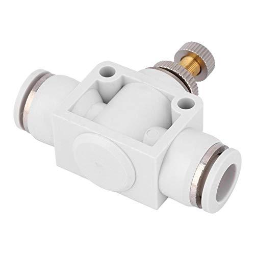 2 piezas de válvula de control de velocidad de aire blanco, límite de velocidad, junta de válvula de mariposa de enchufe rápido para herramienta neumática a alta temperatura y alta presión(10)