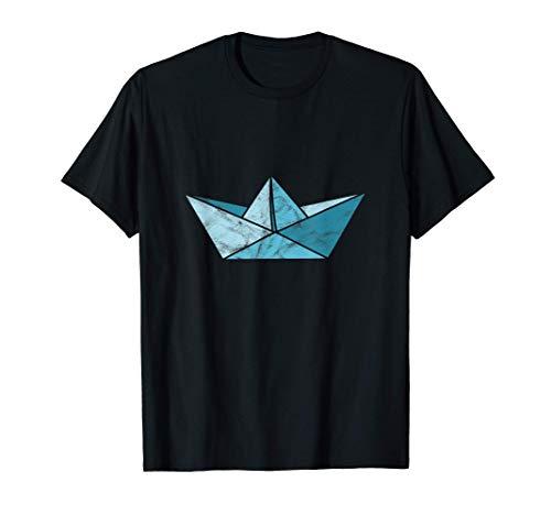 Velero de Papel Azul - Origami Camiseta