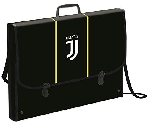 Cartellina Valigetta Polionda T Juventus, Best Match, Nera, per Materiale da Disegno, con Tracolla