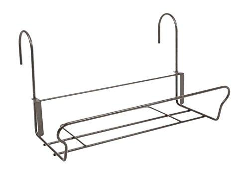 H.G. Balkonkastenhalter Universal mit Sicherheitshaken 41,5 x 22 cm, Schwarz