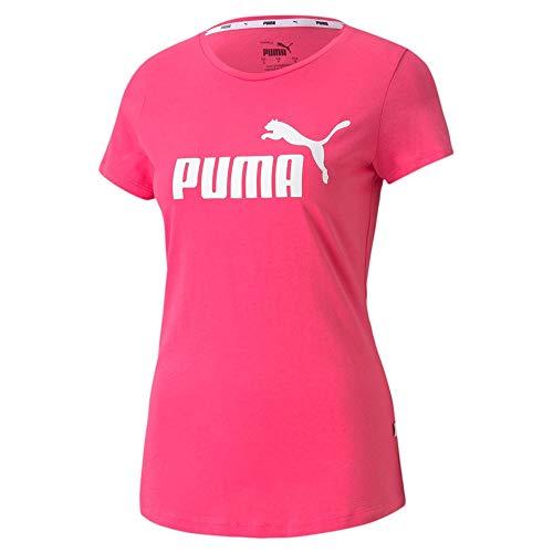 PUMA Damen ESS Logo Tee T-Shirt, Glowing Pink, XL