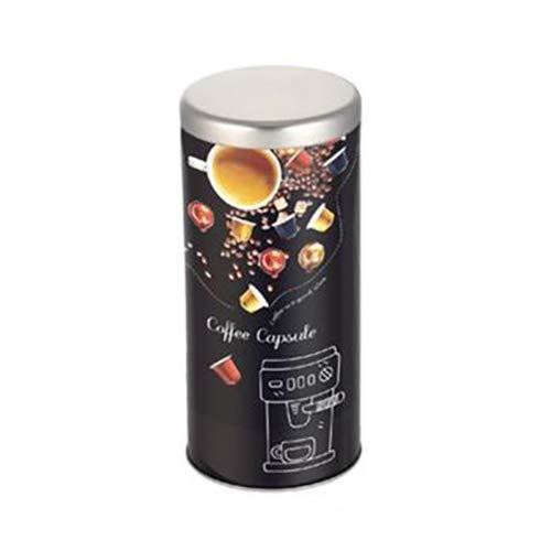 axentia Kaffeepad-Dose, Blech, Mehrfarbig, Ø 9 cm, Höhe ca. 20 cm