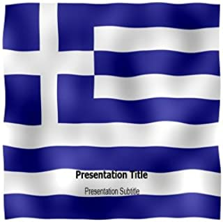 Greek Animated Flag Powerpoint Templates - Greek Animated Flag PPT Backgrounds and Slides