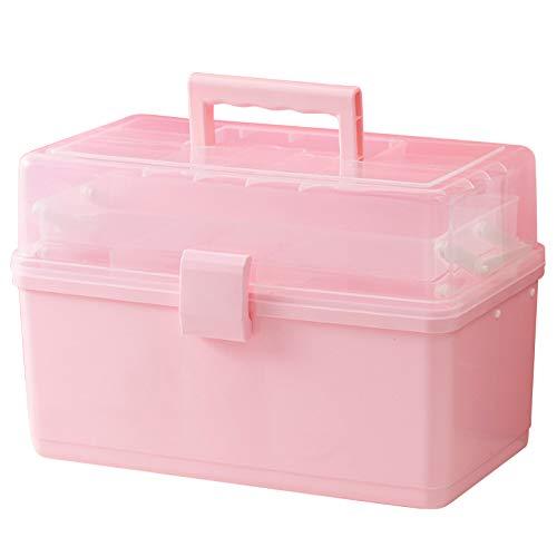 LQKYWNA Boîte De Rangement D'accessoires pour Cheveux Boîte D'accessoires pour Cheveux pour Enfants Multicouche Boîte à Bijoux Fille en Plastique