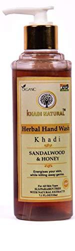 Khadi Natural Herbal Sandalwood honey hand wash (210ml)