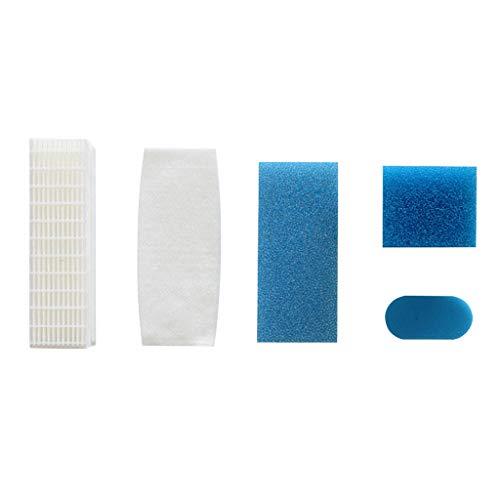 fivekim 5 pièces, 1 Ensemble de Filtre à poussière HEPA pour Thomas Twin Genius 787203 pièces d'aspirateur Accessoire Filtre élément filtrant Ensemble de Coton Bleu et Blanc