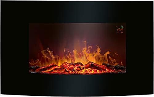 Bomann EK 6024 CB Cheminée électrique Effet Flamme 900 1850 W Noir