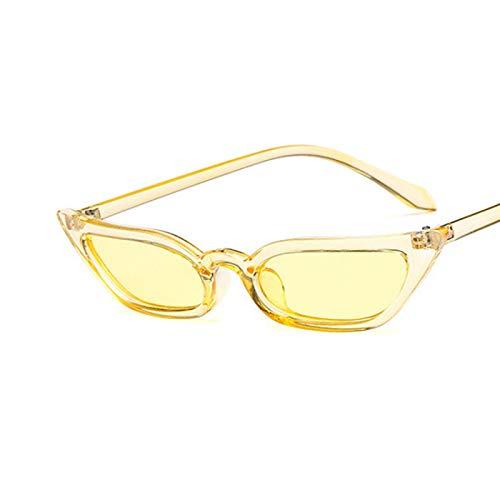 Gafas De Sol Gafas De Sol De Ojo De Gato Pequeñas Tint Candy Coloridas Gafas De Sol Gafas De Sol Moda Uv400 C5Yellow